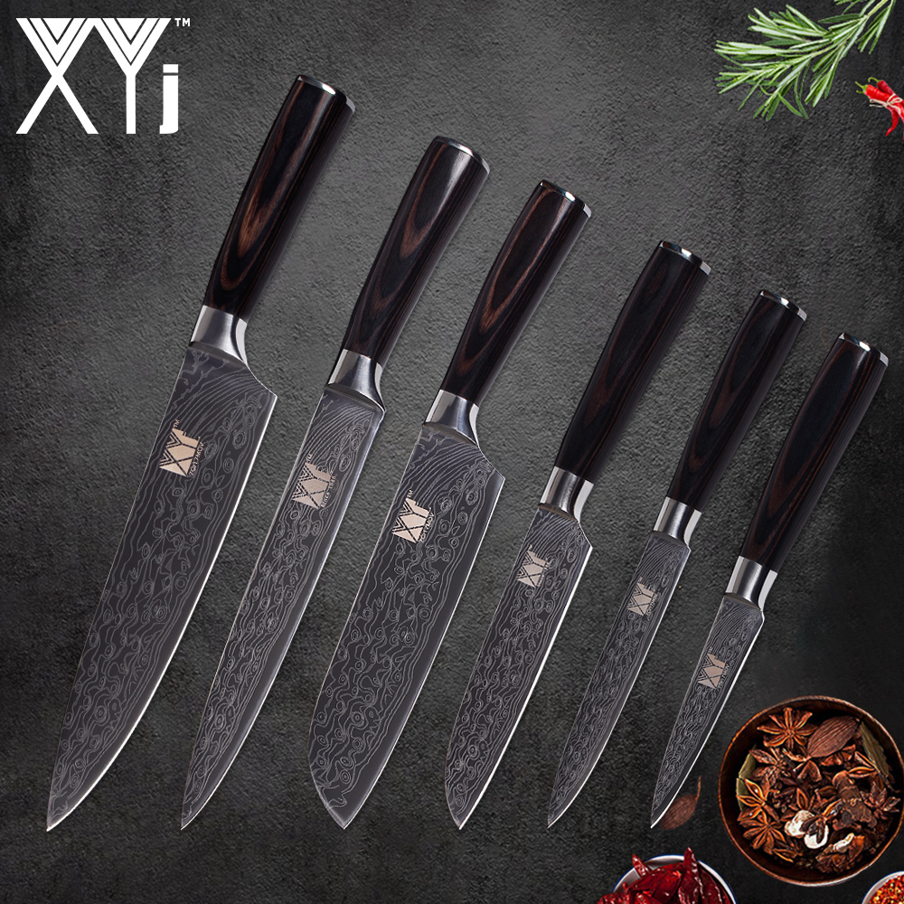 what is a good set of kitchen knives xyj kitchen knife set 6 piece stainless steel high carbon sharp blade knives cooking accessories 3618
