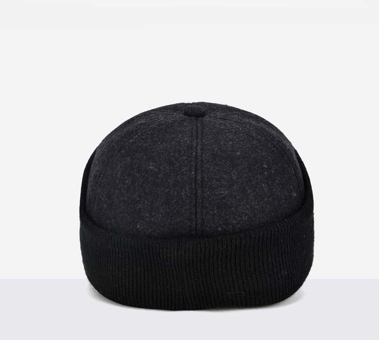 0e51fbba Fibonacci High quality cold proof warmth retention baseball cap fine  cashmere ear flap adjustable flatcap adult autumn winteUSD 12.19/piece