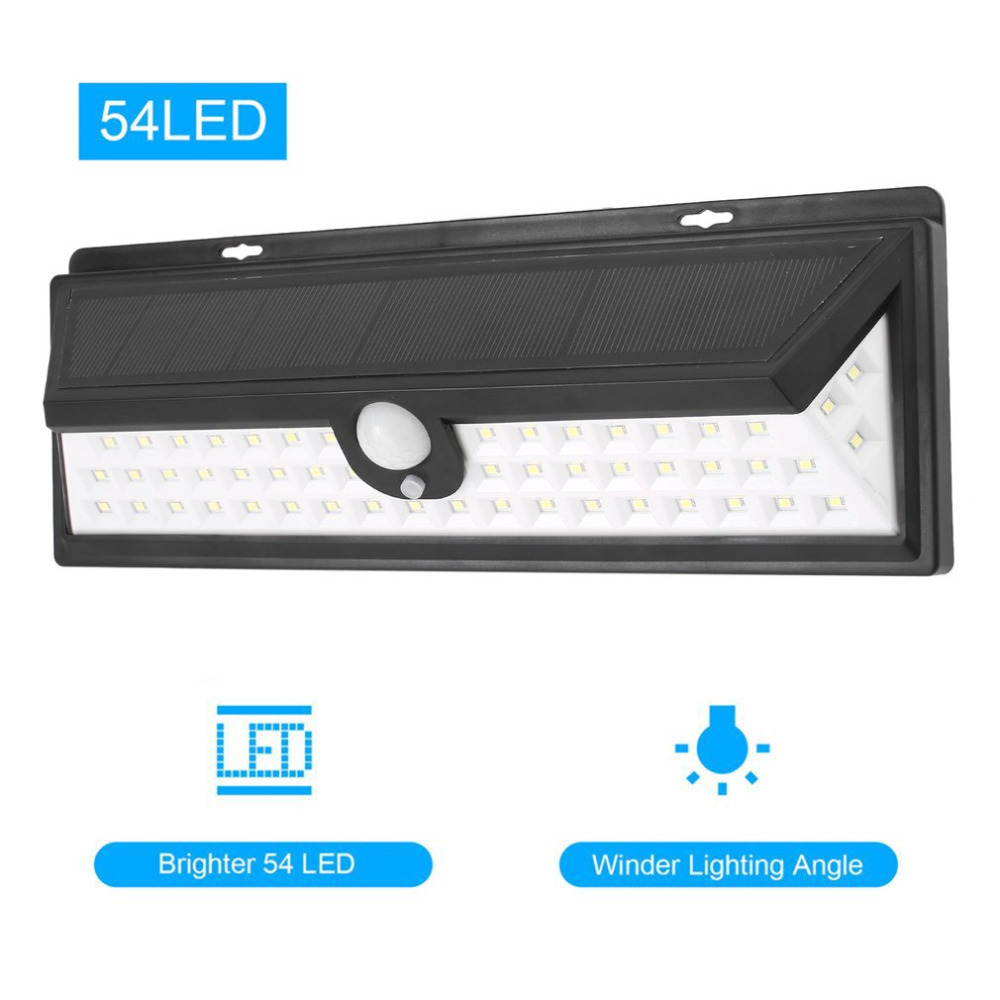 ICOCO 54 LEDs Solar Sensor Waterproof PIR Human Body Induction Motion Sensor Dimmable Wall Light for Outdoor Garden Landscape l0606 infrared human body induction lamp auto pir 6 leds light 6v