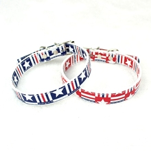 England Style PU Pet Collar For Dogs Size S/M 2019 Popular Dog Cat Basic Puppies Print Leash Collars