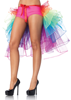 Newest Lady S Mix Color Rainbow Tail Ballet Tutu Skirt For Women MZ004 Halloween Costume Cosplay