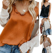 Womens Boho Tank Tops Sleeveless Loose Summer Casual Solid Ruffle Strap Top Vintage Cami solid ruffle cami jumpsuit