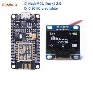 Image 4 - NodeMCU Devkit 2.0 CP2102 IIC SPI Basato su ESP8266 ESP 12 + 0.96 Serial IIC I2C Modulo Display OLED RCmall DIYmall