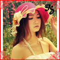 Newly Fashion Summer Flower Sun Hat Beach Hat For Women Cool Floral Bucket  Hats Free Shipping