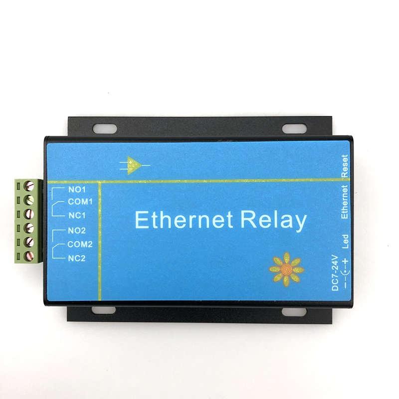2 way Ethernet network relay module IP remote access controller intelligent smart home industrial grade Support MODBUS TCP