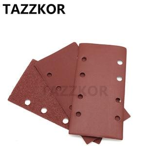 Image 4 - Square Sandpaper Grit Flocking Sand Paper Special Shaped Disc Abrasive Stone Glass Grinder For Wood Polish Tools 93x185mm 10pcs