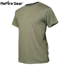 Summer Camouflage Cotton T-shirt Men Military Quick Dry O Neck Camo Tees, Breathable Short Sleeve Tactical Army Combat T Shirt(China)