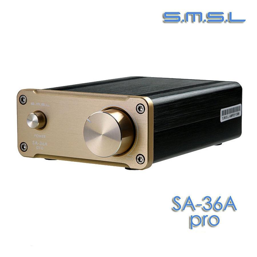 SMSL SA-36A Pro 25W*2 TDA7492PE Digital HIFI Power Amplifier GOLD color+12V adapter радиоприемник 25 hifi 25w