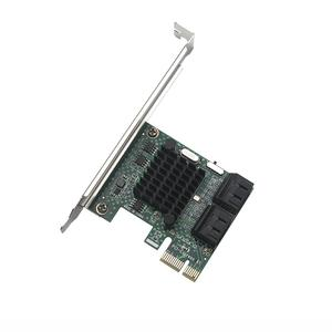 Image 3 - HDD SSD Adapter PCIE PCI Express 1x to 4 Port Sata 3.0 6Gbps Converter Card Adapter Expansion Board Heatsink Low Profile Bracket