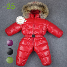 baby girl jumpsuits Russia winter baby clothing , winter coats snow wear duck down jacket ,snowsuits for kids boys girls clothes