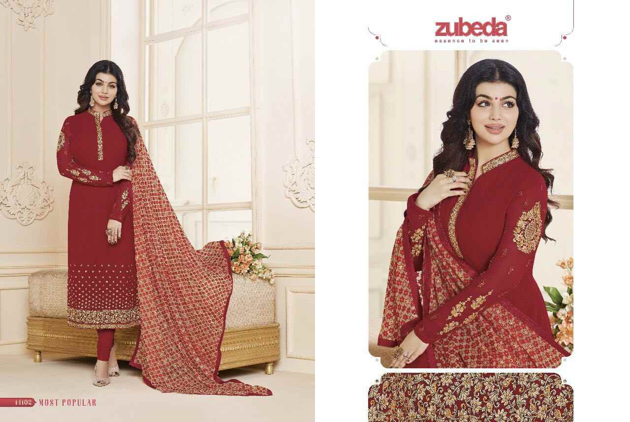 6af3c8ea8 ... ZUBEDA Indian Pakistan Dress Designer Women Flower Embroidery Churidar  Salwar Kameez Stitched Suit Bollywood Ethnic Party ...