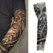 Крутая Татуировка рукава рука грелка длинная манжета ледяная рука рукав для рук с защитой от ультрафиолета Защита Велоспорт езда рука Солнцезащитная перчатка с тату
