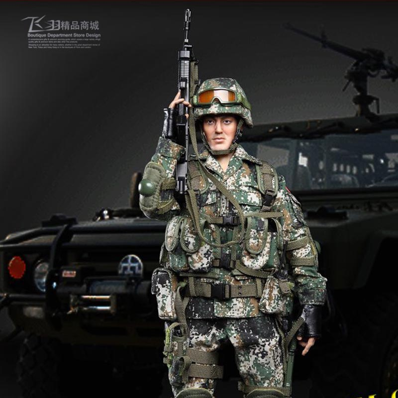 1/6 Chinese Military Army Special Forces Soldier Action Figure Model Military Wolf Mad Cow Model Set free shipping super affordable military base 310pcs set plastics toy soldier sand table model army soldier boy christmas gifts