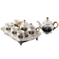 Керамика Прямая продажа с фабрики 8 шт. костяной фарфор золото кофе набор послеобеденный чай подарочный набор оптовая продажа