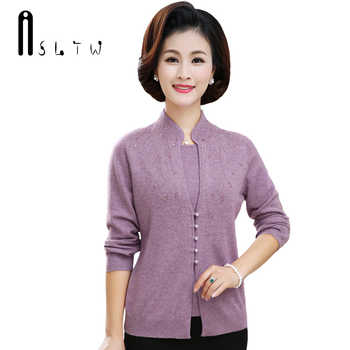 ASLTW Cashmere Women's Sweater New Fake Two Pieces Long Sleeve Female Sweaters Fashion Cashmere Pull Femme Thick Women Pullover - DISCOUNT ITEM  15% OFF All Category