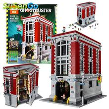 Lepin 16001 Ghostbusters Firehouse Sede Minifigures Building Blocks Enlighten Niños Juguete Compatible Con 75827 de La Ciudad