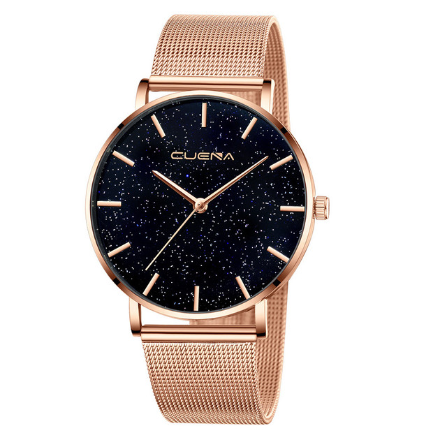 Exquisite Starry Sky Women Bracelet Watch Fashion Female Stainless Steel Mesh Qu
