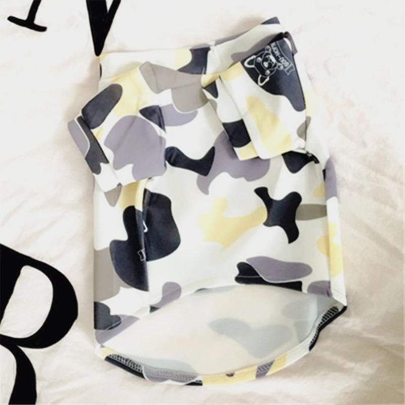 Pet Products Dog Supplies Apparel Camouflage Color Dog Cat Puppy Teddy Labrador Golden Retriever Pet Shirt