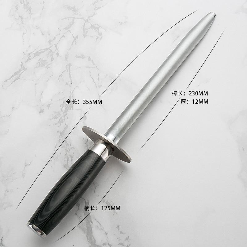 High Quality Damascus Knife Sharpener Japan Professsional Hone Diamond Steel Knife Sharpener Grinding Bar Stick
