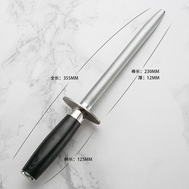 Haute qualité damas aiguiseur de couteau japon professionnel Hone diamant acier aiguiseur de couteau barre de meulage bâton