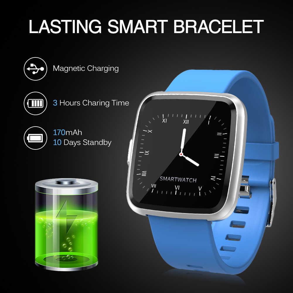 IP67 חכם צמיד עם לב קצב פעילות מעקב חכם שעון 1.3In מלא מסך מגע כושר גשש שעון מונה