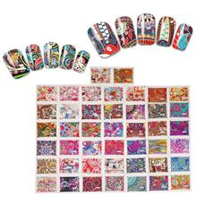 цена на 44 pcs Nail Sticker Flower Water Decals Transfer Foil Floral Design Nail Art 3D DIY Beauty  Nail Art Stickers