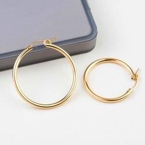 Image 4 - Un par de oro de 14 K llena pendiente ganchos 15mm/19mm/22mm/29mm/ 35mm oro llena de pendientes de Clip pendientes largos aretes pendientes para el bricolaje pendiente joyería resultados