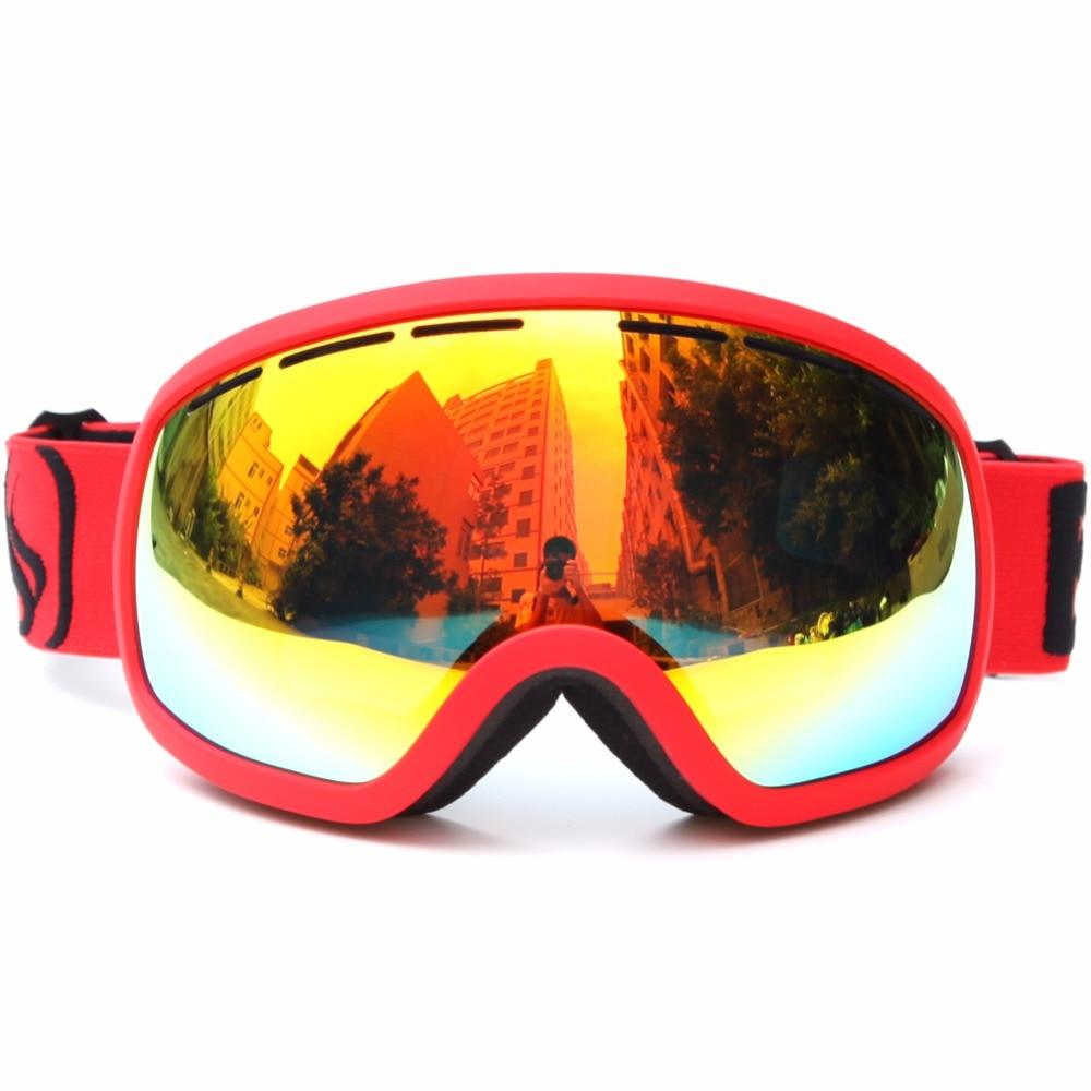 Ski Goggles 100% UV Proof Dual Layer Anti Fog Lens Skiing Skateboard Goggles Eyewear Protect