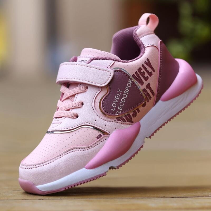 2019 Spring Children Sport Sneakers Fashion Kids Antislip Soft Sneakers Girls Baby Shoes Cute Running Shoes Size 4-10-14 Years