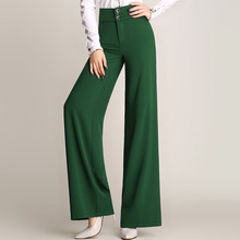 Spring high waist wide leg pants female trousers