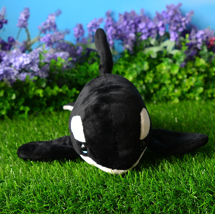 Simulation <font><b>Killer</b></font> <font><b>Whale</b></font> Doll <font><b>Plush</b></font> Toys Dolphin Dolls Marine Animal Super Soft Kid Gifts image
