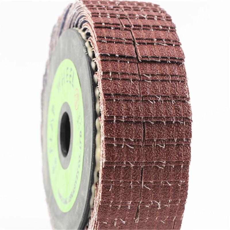 250x25.4mm Emery Cloth Abrasive Cloth Wheel Sand Cloth Flap Polishing Wheel For Metal And Wood Polishing