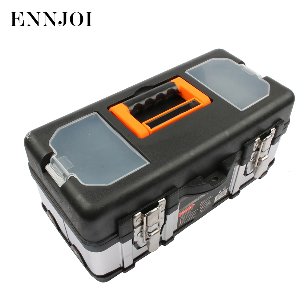 Portable Large stainless steel toolbox household maintenance electrician plastic Tool Box Z0103 Multifunctional set  цены