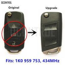 Qcontrol 3bt chave remota automotiva, atualização automática para skoda octavia ii .pdf/1k0 959 753 transmissor de entrada sem chave