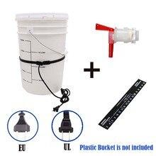 Homebrew Plastic Fermenter Kit EU/UL Plug Brew Belt Digital Adhesive Stick Thermometer Bottling Spigot Kit