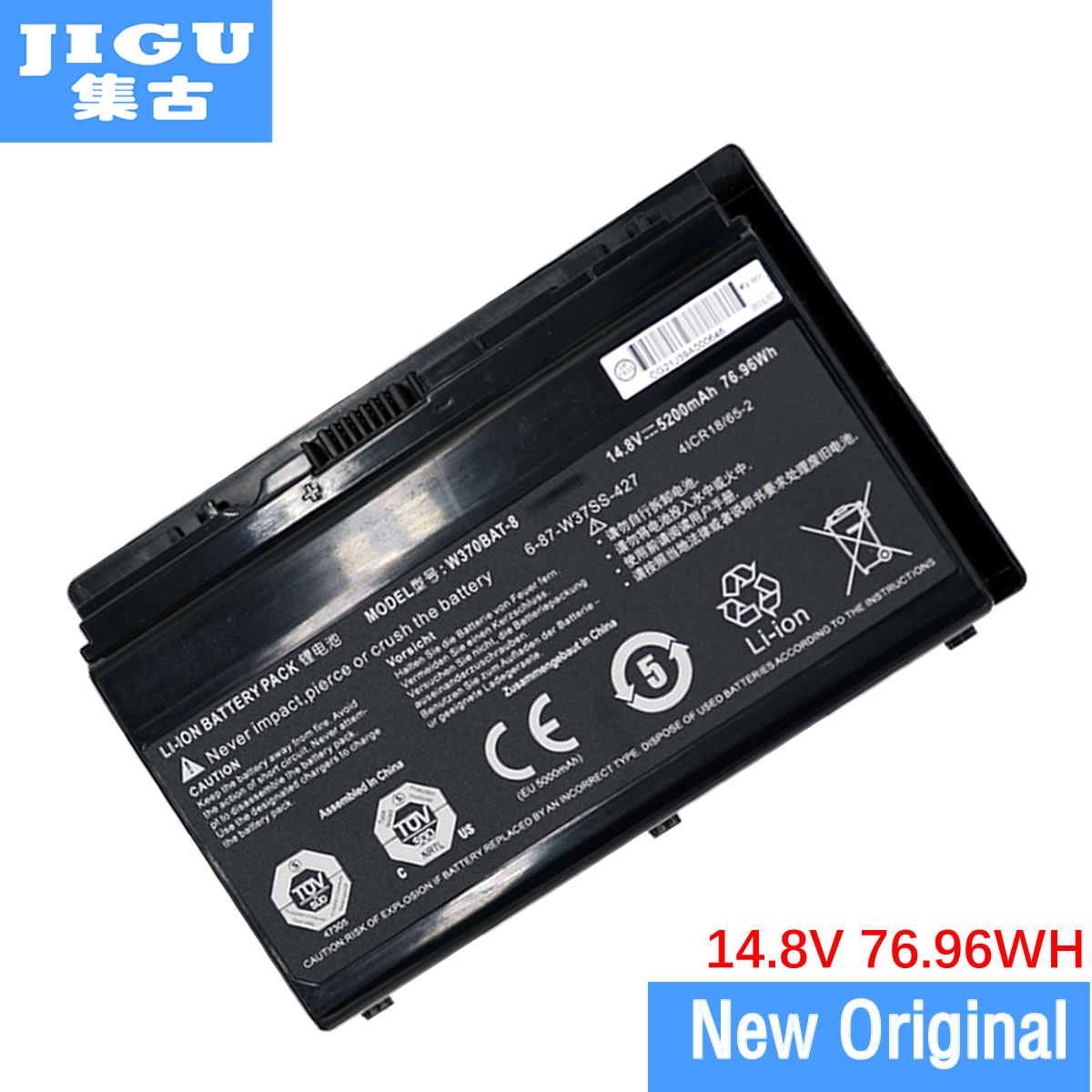 JIGU W370bat-8 Battery For Clevo W350et W350etq W370et Sager Np6350 Np6370 Xmg A522 Xmg Xmg A722 6-87-w370s-4271 genuine new original cable fit for clevo w370et lcd cable 6 43 w3701 010 k 6 43 w3701 011 k