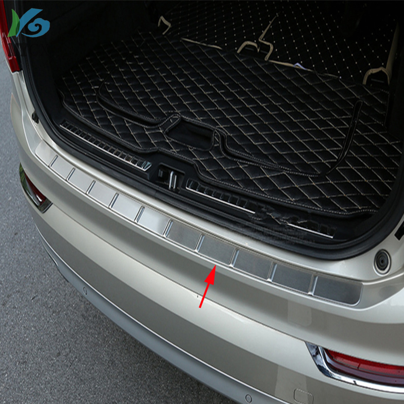 For Volvo XC90 XC <font><b>90</b></font> 2015 <font><b>2016</b></font> 2017 2018 Stainless Steel Outer Rear Bumper Guard Plate Cover Trim 1pcs Car Styling Accessories image