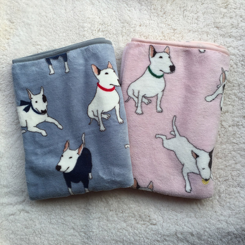 Fleece Blankets For Cat Bullterrier Bulldog Bed Mats House Cats Dogs Bed Blanket Cover for Sofa bed FashionMove