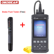 hot deal buy launch creader 619 diagnostic scanner full obd2/eobd functions support multi-languages diagnostic tools same as autel al619 odb