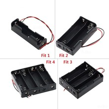 Black Plastic 1x 2x 3x 4x 18650 Battery Storage Box Case 1 2 3 4 Slot Way DIY Batteries Clip Holder Container With Wire Lead Pin 1xusb charger 1x 2x 3x 4x 630mah battery for parrot minidrones mambo swing best price