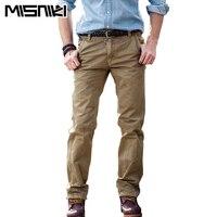 MISNIKI Hot Fashion Casual Trousers Men Cargo Pants Casual Slim Fit Cotton Mens Pants CX
