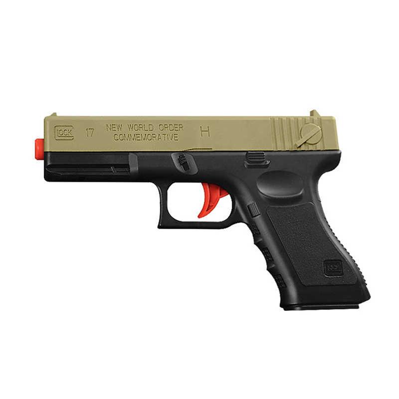 2 stücke Kunststoff Gel Ball Pistole Glock 17 1911 Wasser Kugeln Jungen Spielzeug Pistole Waffe Pistole Zubehör Gun Fall Freien spiel Kinder Geschenke