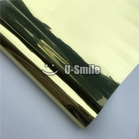 VLT 15% Gold Silver One Way Window Film Foil For Building Office Glass Size:1.52*30m/Roll