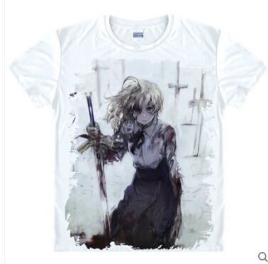 Anime Emiya Shirou Fate Stay Night Saber Unisex Costume saber Archer T-shirt  Casual tee tshirt 079d17cc8