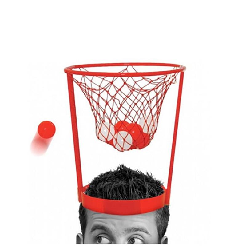 Head Basketball Hoop Game Circle Shot Plastic Basket Parent - Child  Interactive Toys Hat Fun d3662e72083