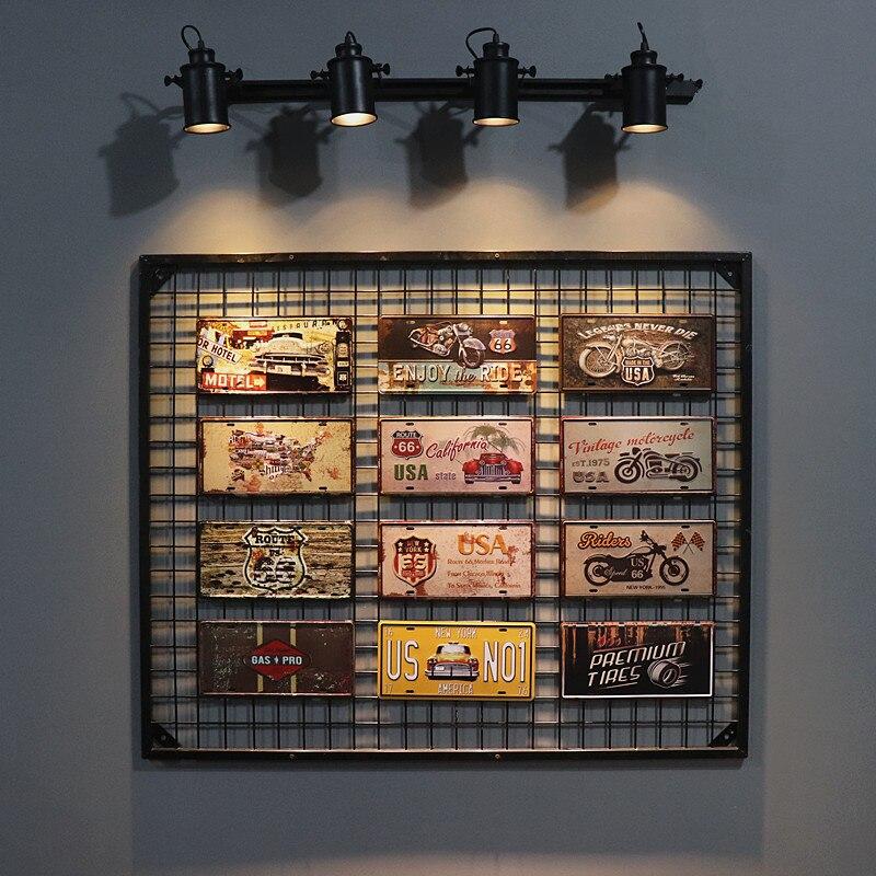 Dl-placa de licença vintage placas de sinal de estanho metal pintura arte cartaz bar pub garagem decoração da parede
