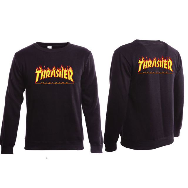 High Quality 1:1 Cotton Thrasher Sweatshirt Street  Thrasher Magazine Sweatshirt Thrasher Clothing Fashion Sweat Trasher Hoodie