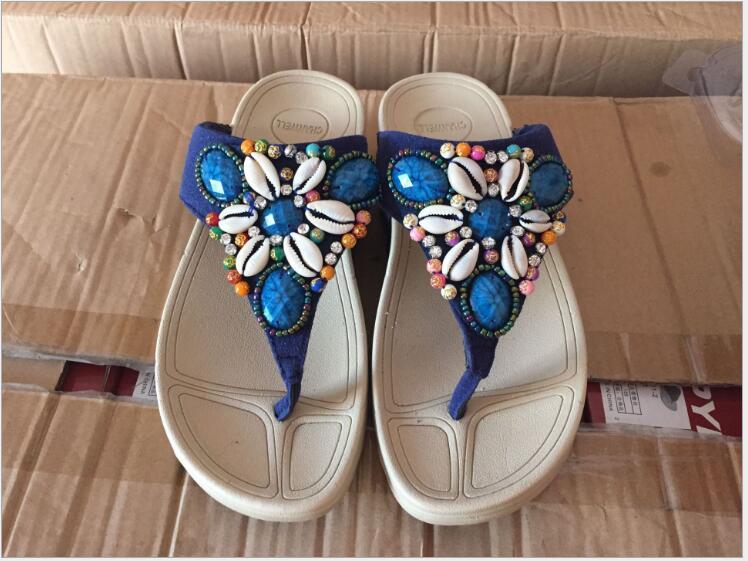 Size 35-40 Hot 2018 Sweet flowers Women Flip Flops Summer Sandals Platform Wedges Slippers Girl's Fashion Female slippers