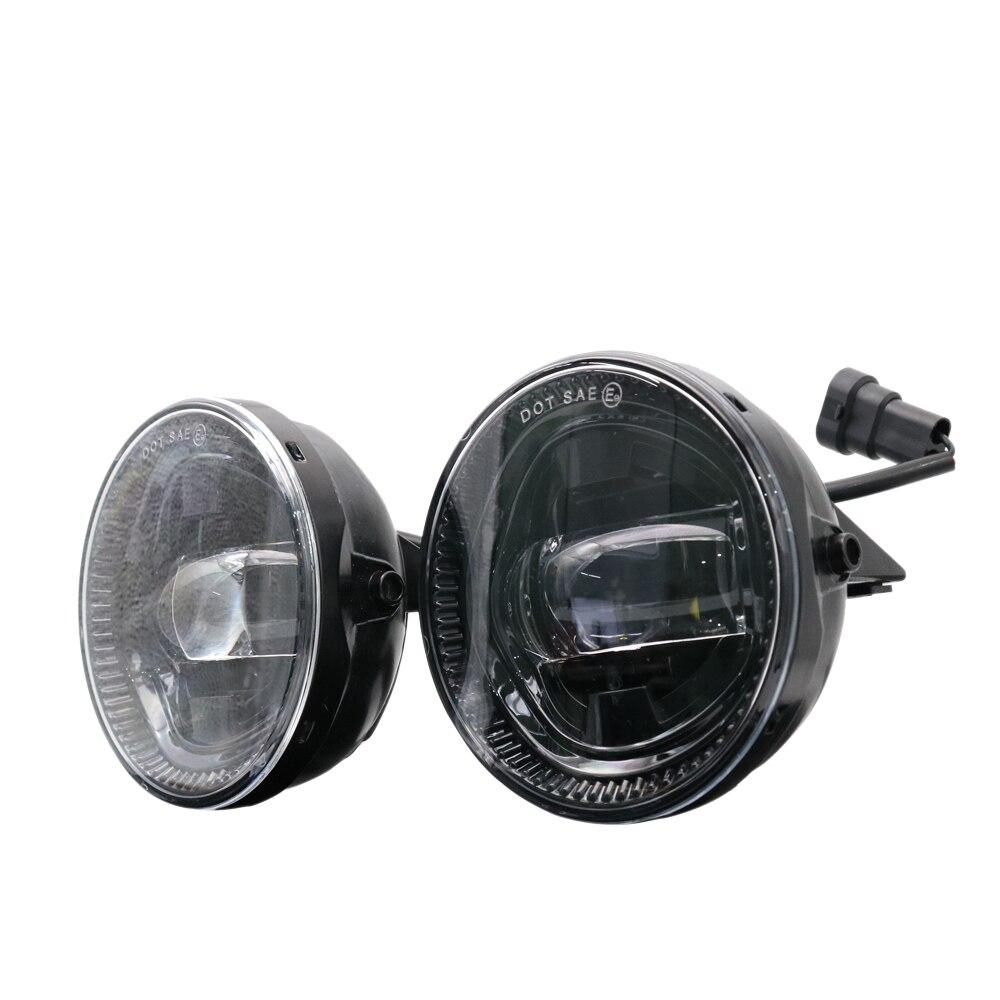 2x Newest High Power Universal LED Fog Light Bulb Lamp Car Day Lights Circular Shape Car styling Fog Lamp For Ford F150 07 14