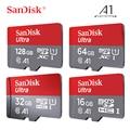 Двойной Флеш-накопитель SanDisk Micro SD карты Class10 U1 карты памяти 16 Гб оперативной памяти, 32 Гб встроенной памяти, 98 МБ/с. 64 Гб 128 200 256 100 МБ/с. слот для ...